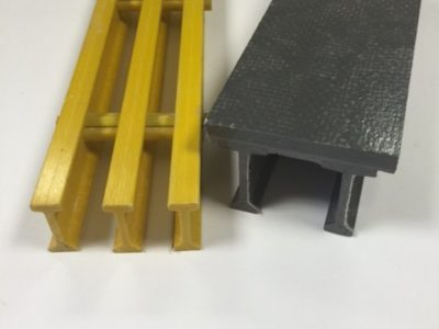 Pultruded Grating and Plate Top Pultruded Grating sold by Liberty Pultrusions manufacturing