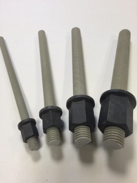 Threaded rods and hex nuts