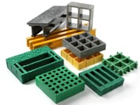 Molded Fiberglass Grating sold by Liberty Pultrusions.
