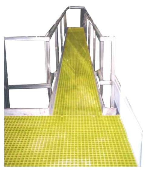 FRP Mesh Grating Walkway sold by Liberty Pultrusions manufacturing