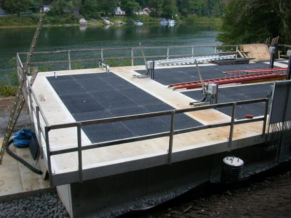 FRP grating cover for waste water treatment facility sold by Liberty Pultrusions