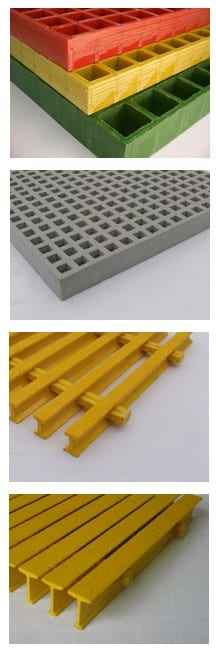 FRP grating options sold by Liberty Pultrusions