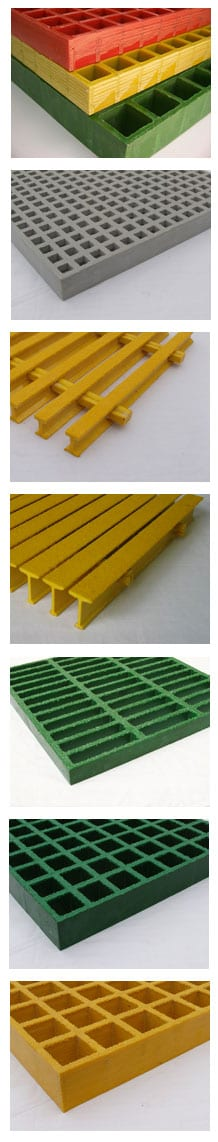 FRP grating options sold by Liberty Pultrusions manufacturing.