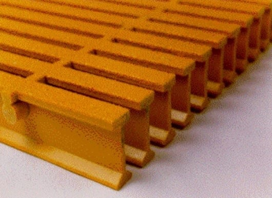 UltraGrate Pultruded Fiberglass Grating sold at Liberty Pultrusions.