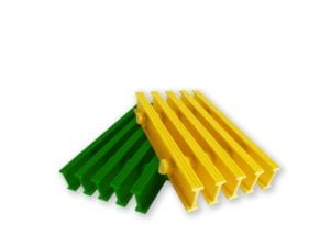 Pultruded fiberglass grating sold by Liberty Pultrusions.