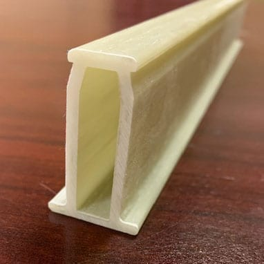 custom Fiberglass reinforced Polyurethane pultrusion used for custom shelving structural supports